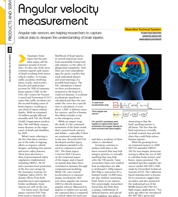 Crash Test Magazine – Angular Velocity Measurement