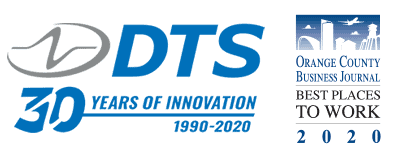 DTS 30 Years and Best Places to Work Logos